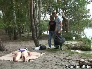Luma lola at boys tinedyer pangtatluhang pagtatalik outdoors, pornograpya d5