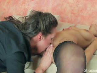 Fishnet Fun Part 1 of 4 Two Hot Lesbians get Ready to