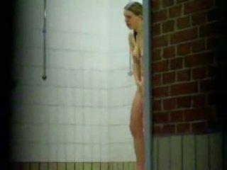 Bunch Of Hot Chicks Caught In A Public Shower By A