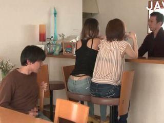 japán, group sex, cumshot