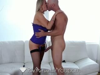 HD PureMature - Hot busty MILF Abbey Brooks licks ice cream and takes cock