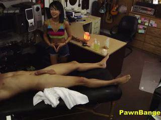 Mağaza müdür fucks sıcak anal creampie masseuse