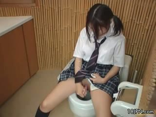 Cute Japanese babe gets caught