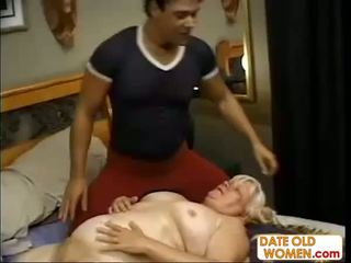 granny, massage, mature