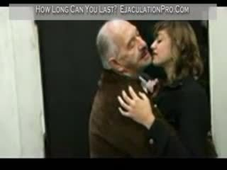 Donna fucked by lucky an old man till cumshot